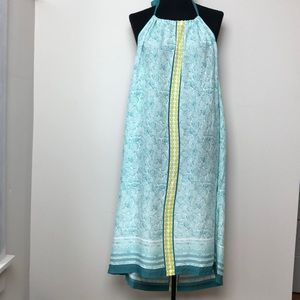 Tommy Bahama Etched Dots Halter Dress Bristol Blue
